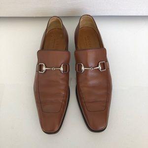 Gucci Jordaan Brown Leather Loafer Men's sz 11.5